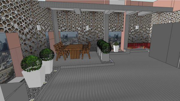 פרויקטים בעבודה- גבעתיים גינת גג